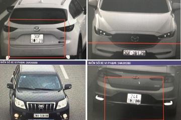 Hàng loạt tài xế gắn biển giả, sửa biển số ô tô đi trên cao tốc Hà Nội - Lào Cai
