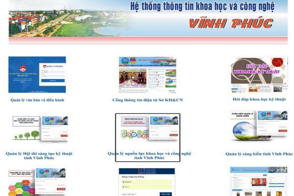 Vĩnh Phúc xây dựng cơ sở dữ liệu KH&CN để phục vụ phát triển kinh tế - xã hội