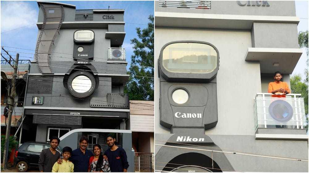Căn nhà độc lạ hình máy ảnh vì chủ nhân mê chụp hình