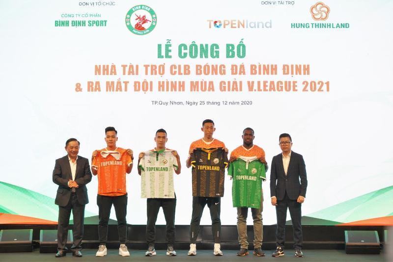 Topenland và Hưng Thịnh Land tài trợ 300 tỷ cho CLB bóng đá Topenland Bình Định