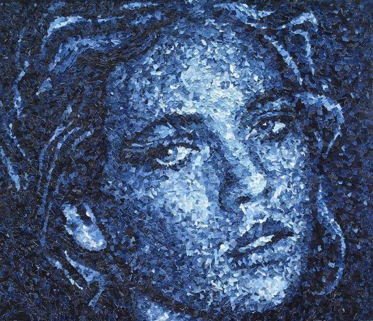Độc đáo với loạt ảnh chân dung đẹp mắt làm từ vải bò cứng
