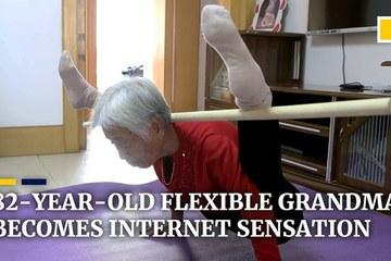 Biệt tài uốn dẻo của cụ bà 82 tuổi bỏ xa giới trẻ