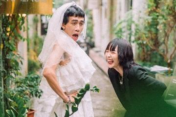 """Mới lạ ảnh cưới """"hoán đổi"""" cô dâu chú rể của cặp đôi yêu xa"""