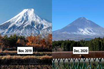 Điều gì xảy ra khi núi Phú Sĩ không có tuyết rơi?