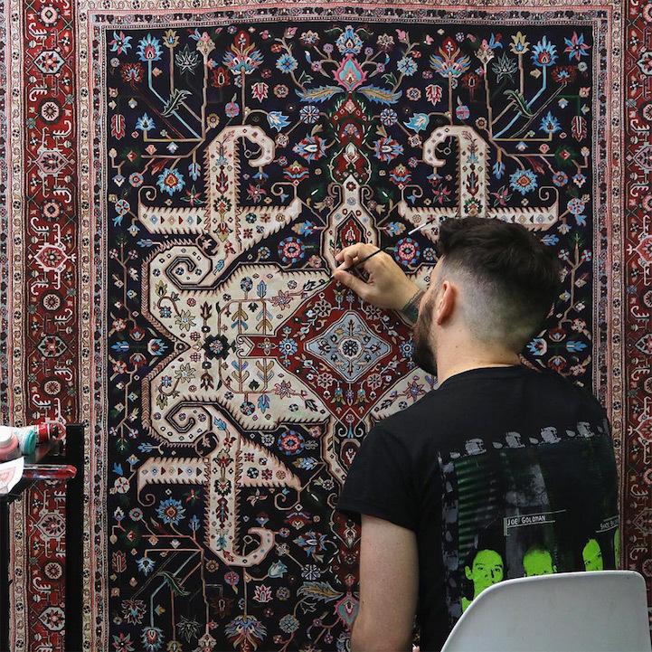 Kinh ngạc chiêm ngưỡng 'tấm thảm' trên sàn gỗ