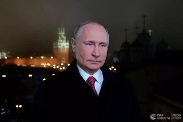 Tổng thống Putin gửi lời Chúc Mừng Năm Mới tới người dân Nga