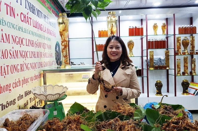 Lô sâm tươi trị giá hơn 6 tỷ bày bán tại chợ sâm Quảng Nam