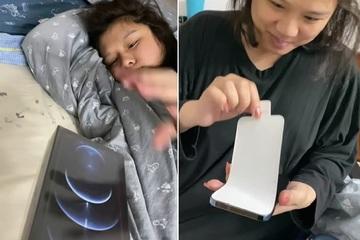"""Vợ mang song thai, anh chồng """"chơi lớn"""" tặng luôn iPhone 12 khiến dân mạng khen ngợi tới tấp"""