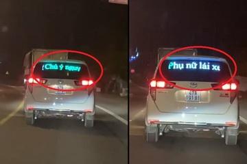 """Lắp đèn led cảnh báo """"phụ nữ lái xe"""": Đừng từ trêu đùa trở thành kỳ thị!"""