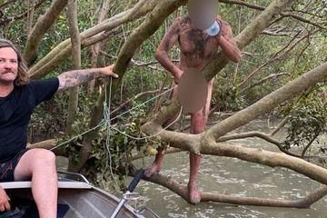 Người đàn ông không mảnh vải che thân trốn trại vào rừng cá sấu