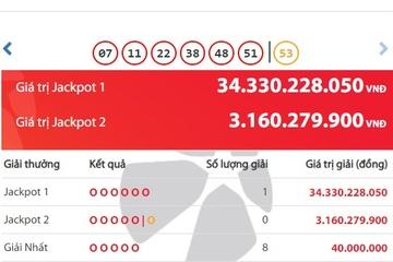 Lại có người ở TP.HCM trúng Jackpot hơn 34 tỷ đồng, thành tỷ phú sau 1 đêm