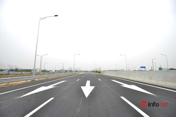 Cận cảnh nút giao Vành đai 3 với cao tốc Hà Nội - Hải Phòng trước ngày thông  xe