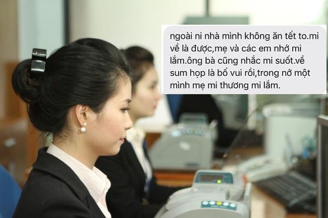 Thấy con gái làm ngân hàng buồn vì thưởng Tết ít, ông bố gửi tin nhắn cực 'ấm lòng'
