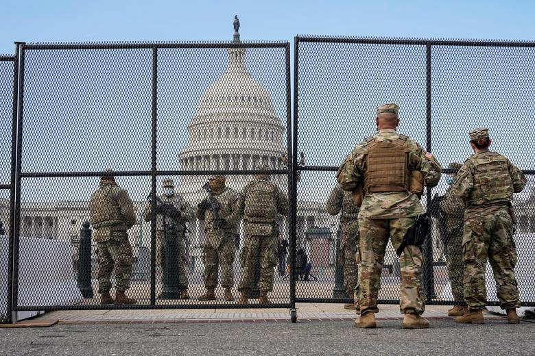 Hình ảnh Washington siết chặt an ninh trước lễ nhậm chức của ông Biden