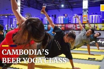 Kết hợp uống bia với tập yoga để giảm stress
