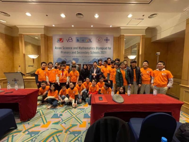 ASMOPSS,Olympic Toán và Khoa học Châu Á,giải thưởng,học sinh,Việt Nam