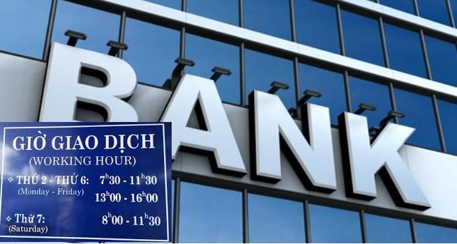 lịch làm việc của các ngân hàng năm 2021