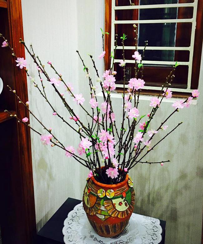 cách cắm hoa đào 2