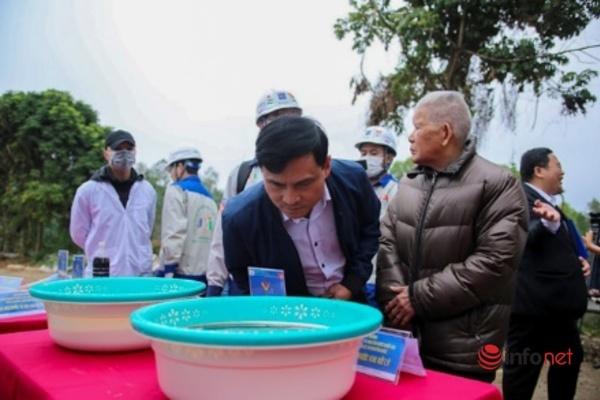 Mùi hôi nước rác thải ở hồ thí điểm bãi rác Nam Sơn biến mất hoàn toàn