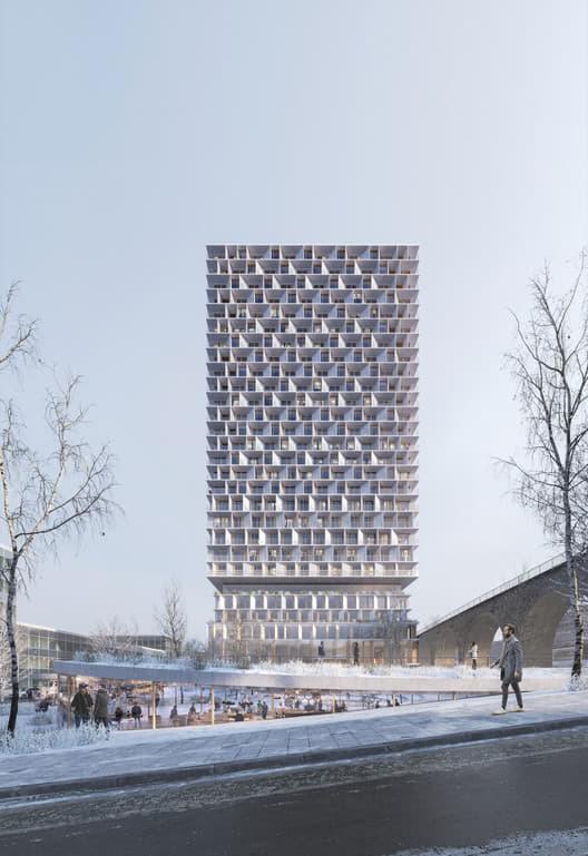 Tòa tháp bằng gỗ cao 85 mét gây sốt