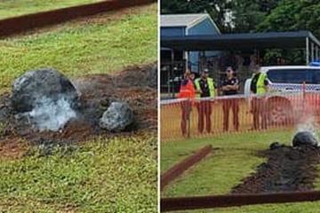 Sự thật 'thiên thạch' khủng rơi trúng sân chơi trong trường học ở Australia