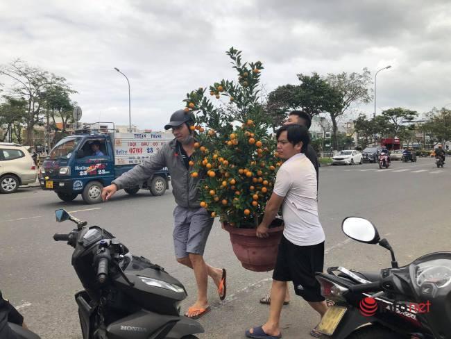 Hoa Tết bày bán đầy phố, tiểu thương ngồi ngóng khách mua