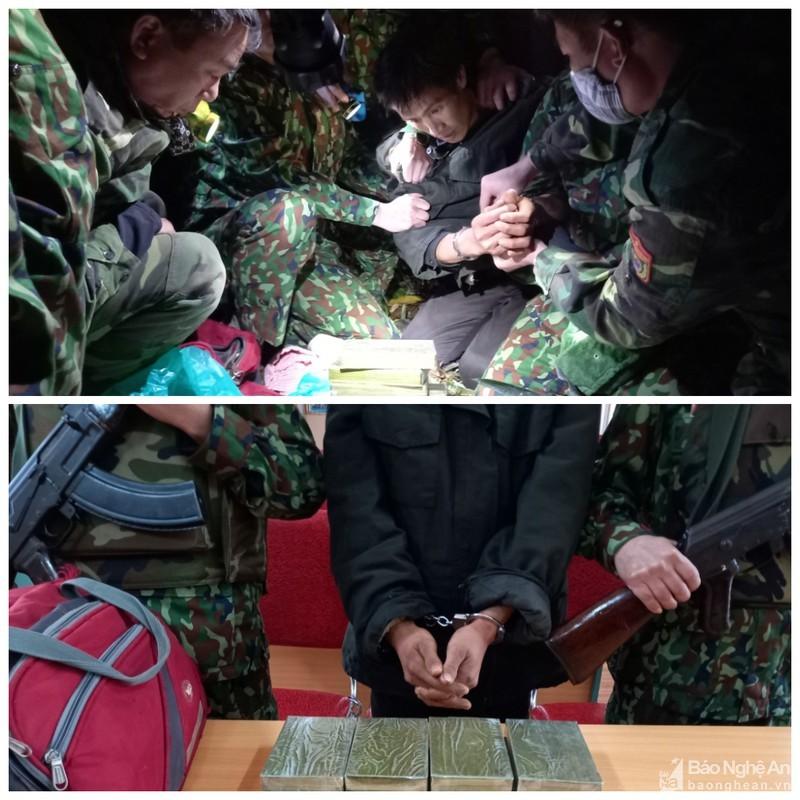 Bắt đối tượng vận chuyển 8 bánh heroin từ Lào về Nghệ An