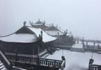 Xuất hiện mưa tuyết hiếm gặp trên đỉnh Fansipan ngày cuối năm