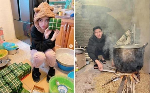 Sao Việt đua nhau gói bánh đón Tết và hình ảnh 'khó đỡ' khiến cộng đồng mạng cười bò