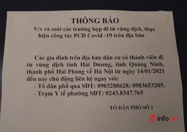 Người dân các tỉnh trở về Hà Nội khai báo y tế thế nào?