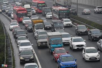 Cao tốc Pháp Vân - Cầu Giẽ ùn tắc chiều mùng 5 Tết