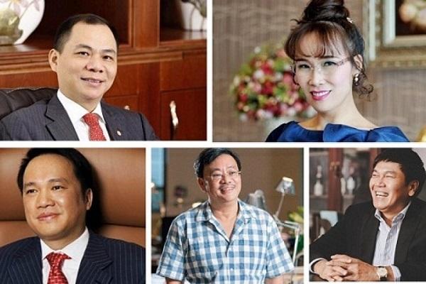 6 tỷ phú bất động sản đứng trong Top 10 người giàu nhất sàn chứng khoán Việt