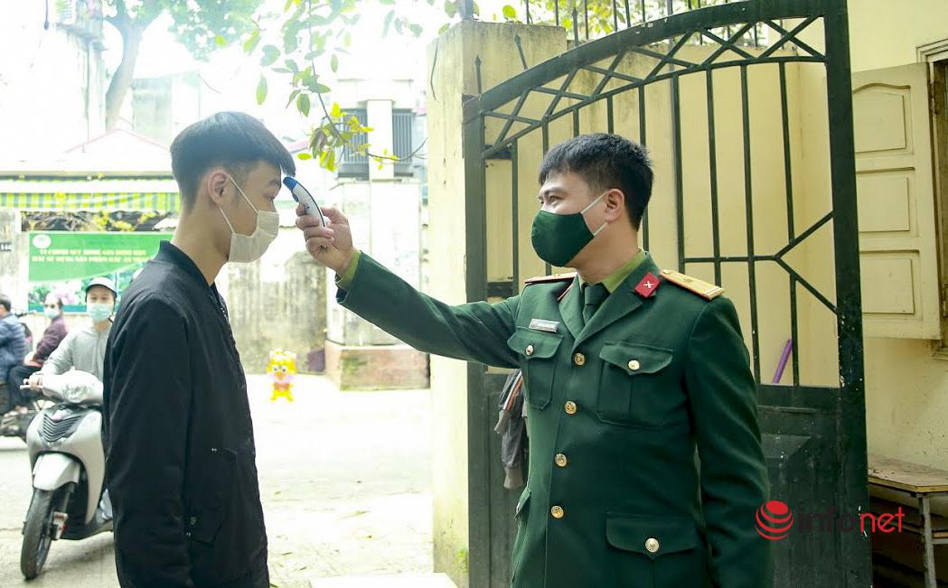 xét nghiệm covid-19,giao quân,tân binh,Hà Nội,nhập ngũ