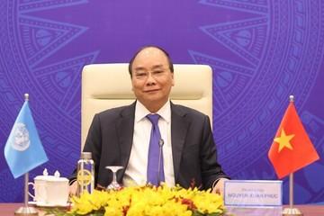 Thủ tướng Nguyễn Xuân Phúc tham dự phiên Thảo luận mở Cấp cao trực tuyến của HĐBA