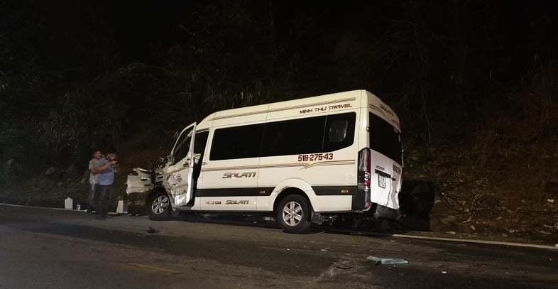 Lâm Đồng: Tai nạn liên hoàn trên đèo Bảo Lộc, 6 ô tô bị hư hỏng nặng