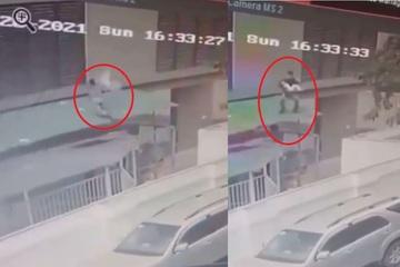 Clip: Góc quay rõ nét nhất khi Nguyễn Ngọc Mạnh đưa tay cứu bé gái