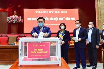 """Thành ủy Hà Nội ủng hộ Quỹ """"Vì biển, đảo Việt Nam"""" năm 2021"""