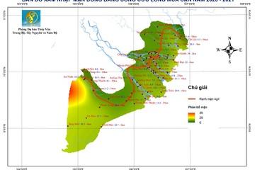 Xâm nhập mặn ở ĐBSCL mùa khô năm 2020-2021 dự báo cao hơn trung bình nhiều năm