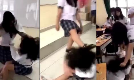 Nữ sinh TP.HCM bị đánh tới tấp ngay trong lớp học