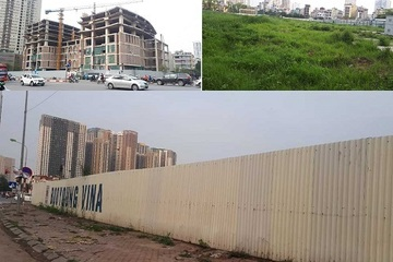 """Hà Nội: Những dự án """"om"""" đất vàng, để cỏ mọc um tùm sau những tấm tôn quây kín"""