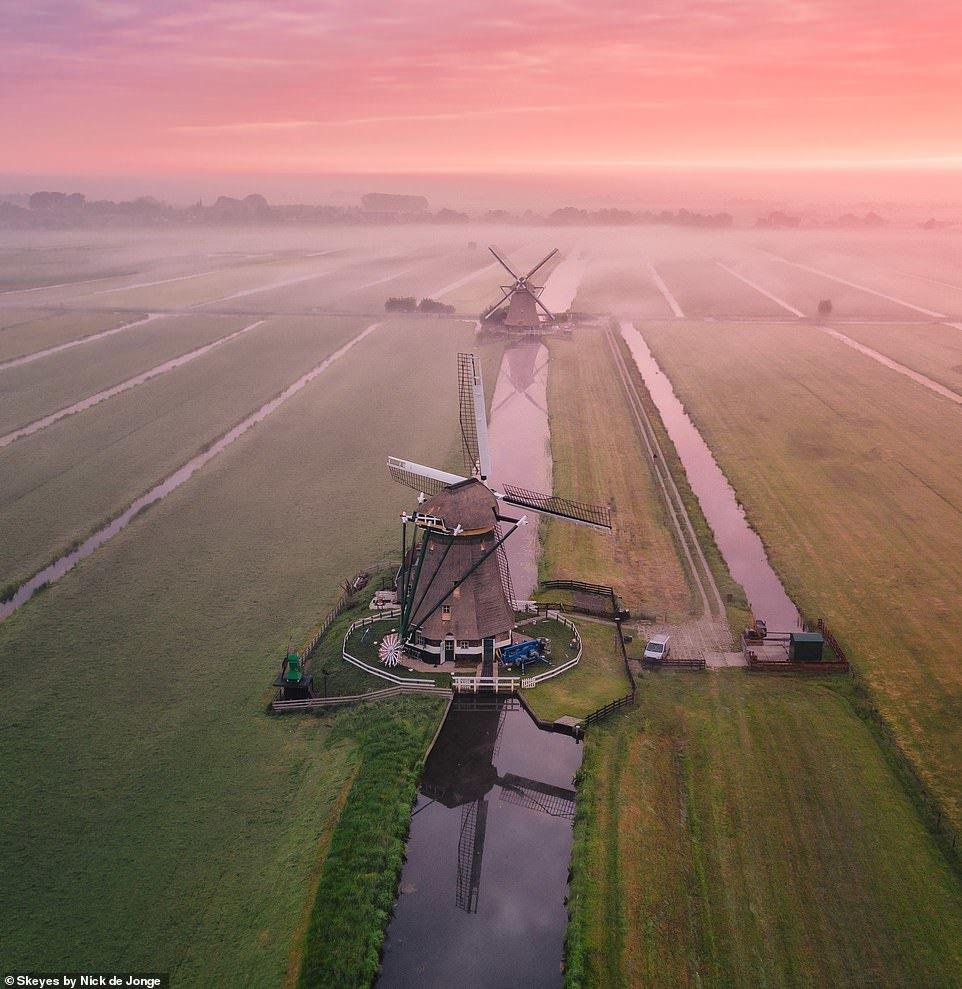 Vẻ đẹp Hà Lan tựa xứ sở thiên đường qua những bức ảnh chụp từ trên cao