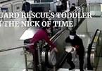 Nhân viên bảo vệ 'nhanh như chớp' lao ra ôm bé 2 tuổi trước thang cuốn