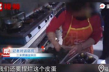 Chuỗi nhà hàng nổi tiếng Trung Quốc nấu cả thức ăn thừa cho thực khách