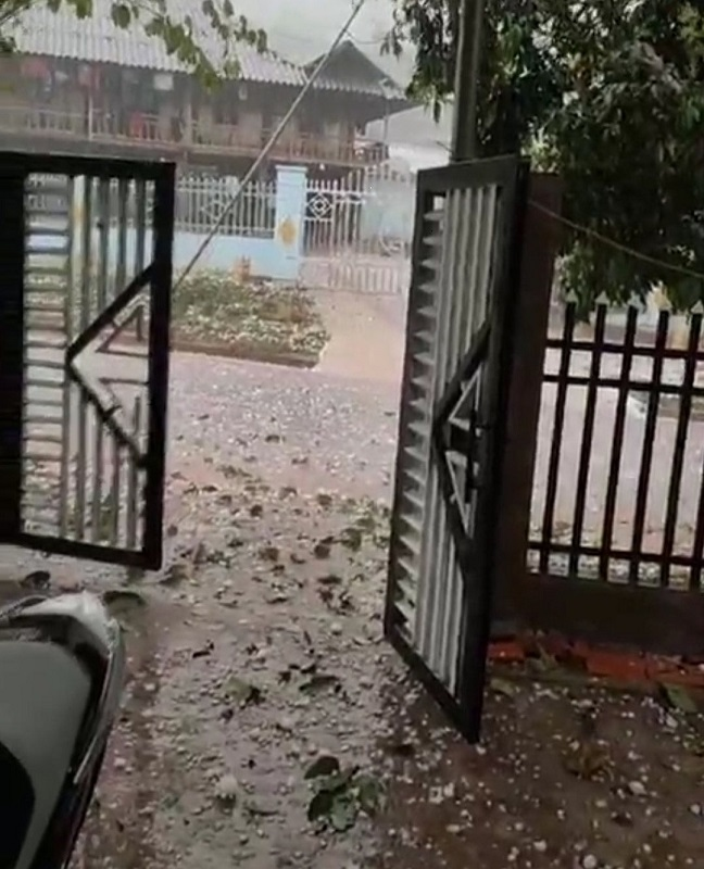 mưa đá,Điện Biên,nhà cửa,hoa màu,thời tiết