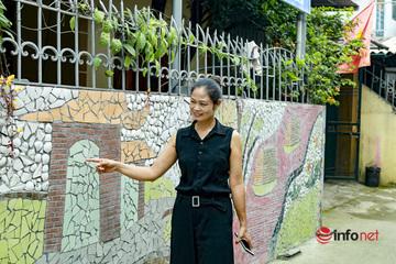 Độc đáo bức tường nghệ thuật được làm từ phế liệu ở Hà Nội