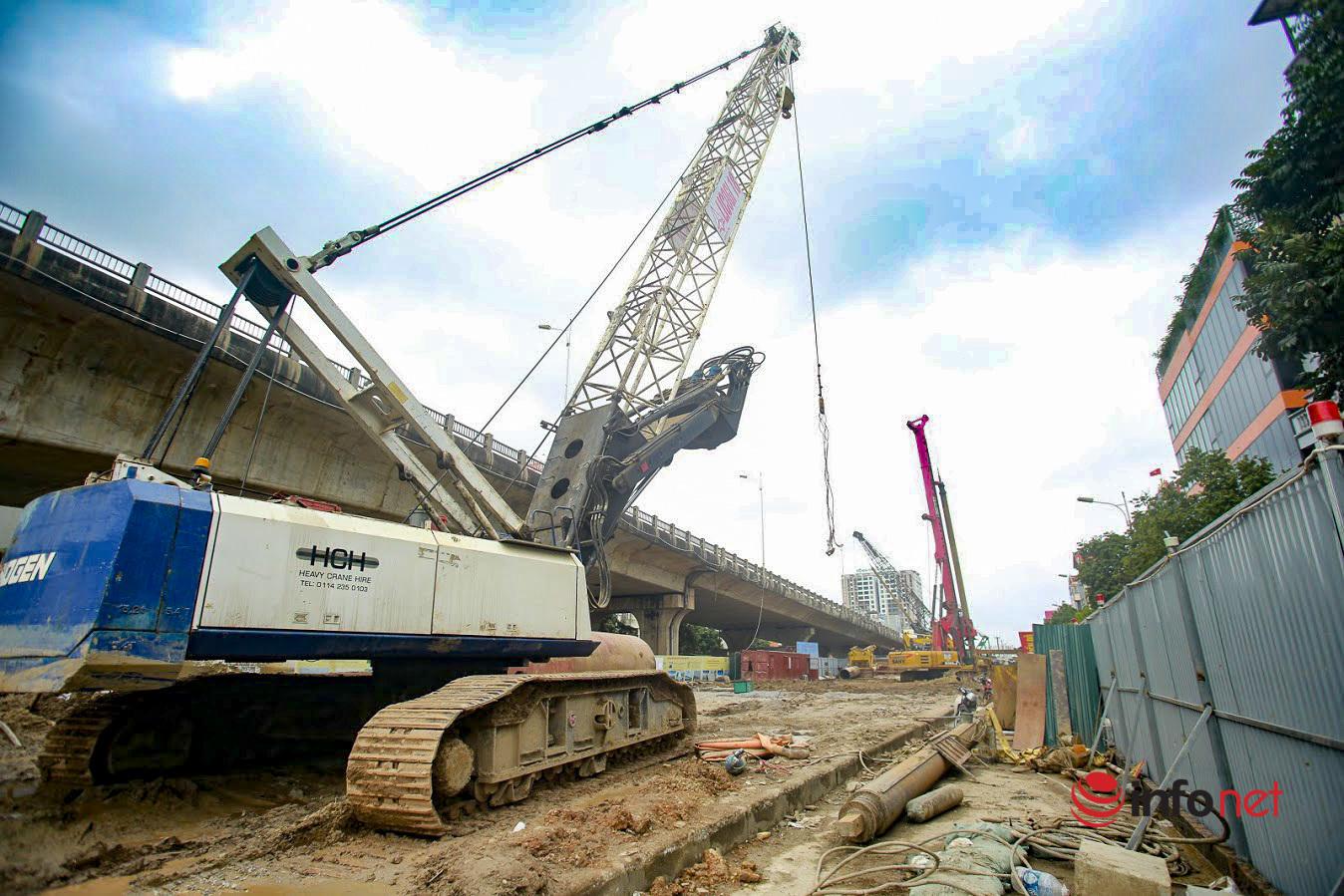 Hà Nội: Cận cảnh gấp rút thi công cầu Vĩnh Tuy 2, rút ngắn 2 tháng