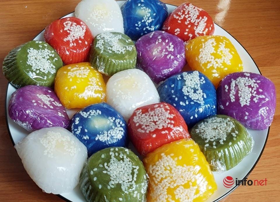 Cách làm bánh xu xê ngũ sắc hương vị truyền thống