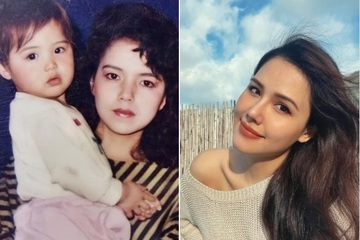 Giữa tin đồn mang bầu, Phanh Lee đăng ảnh chụp cùng mẹ khi còn nhỏ