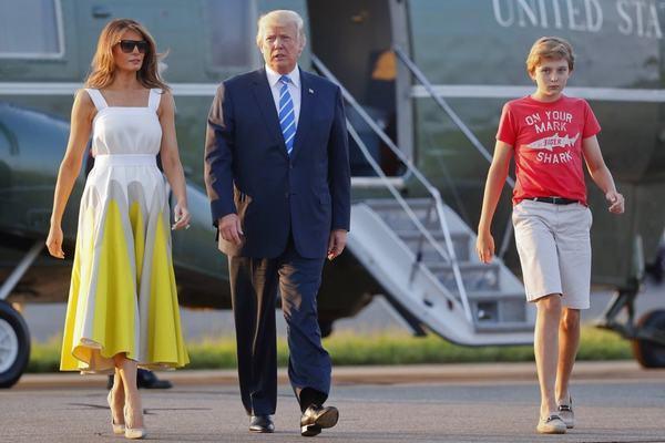 trump,barron trump,tổng thống mỹ,nhà trắng
