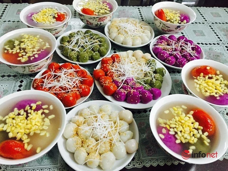Cách tạo hình hoa bánh trôi ngũ sắc đẹp mắt cho mâm cỗ ngày Tết Hàn thực